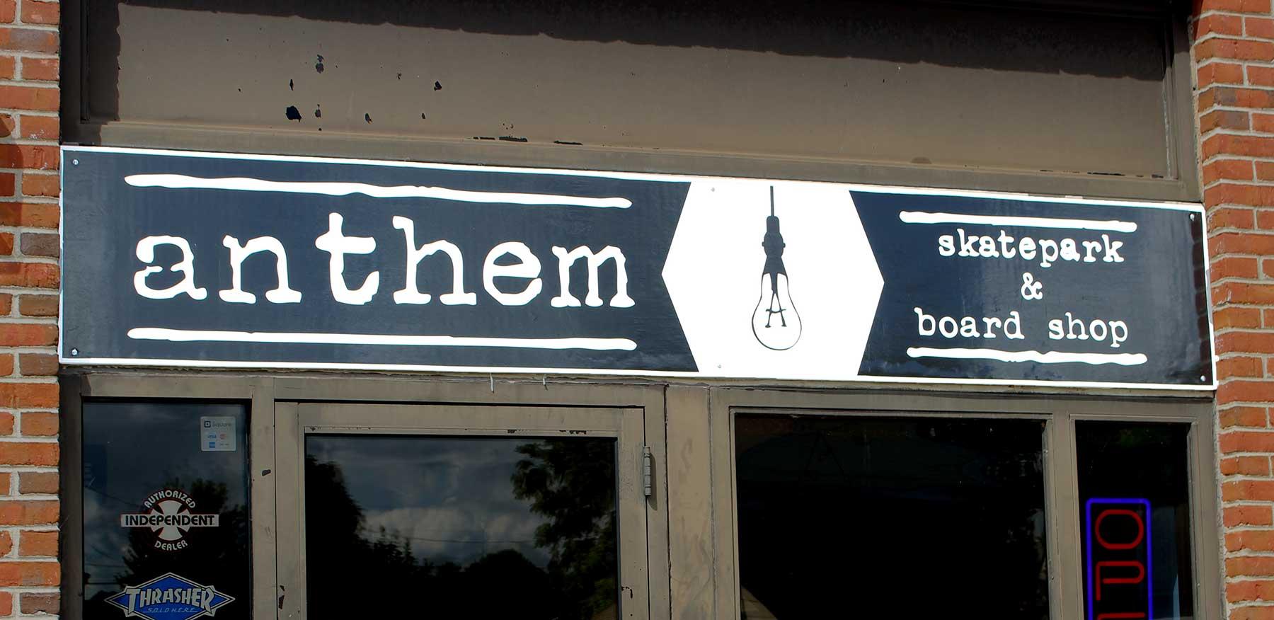 Anthem Storefront Sign